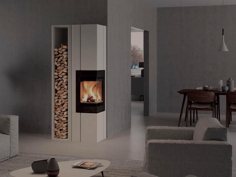 po les bois flam po le chemin e. Black Bedroom Furniture Sets. Home Design Ideas