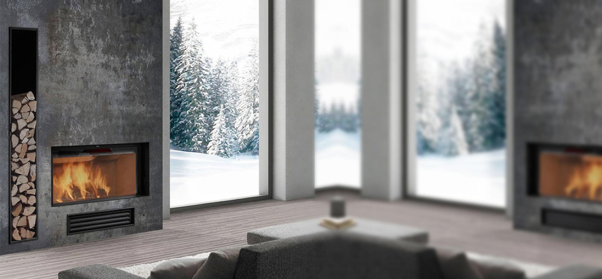 Habillage Cheminée D Angle cheminées modernes, contemporaines et design à nice