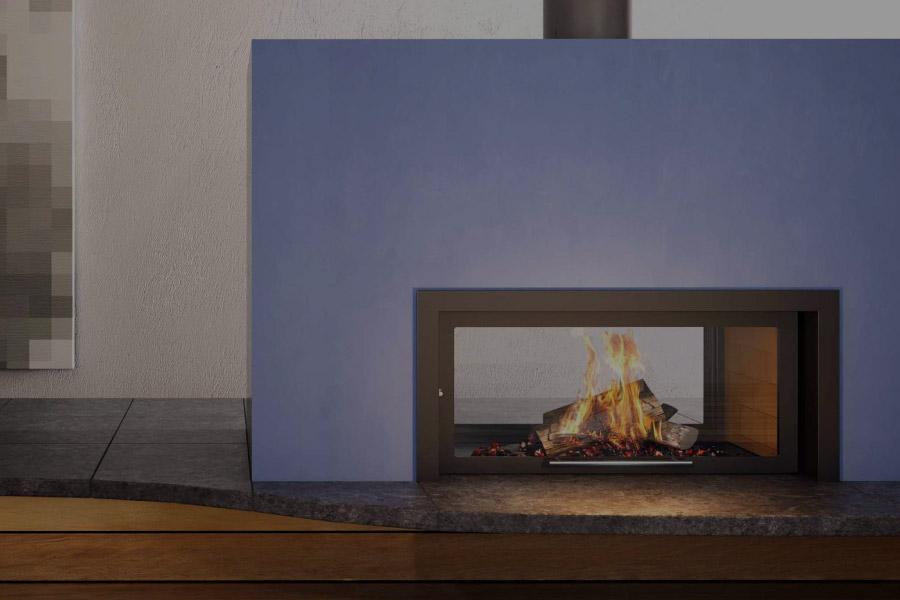 flam cheminée traversant